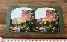 #212 EL CAPITAN YOSEMITE VALLEY CAL. Antique 1898 INGERSOLL COLOUR Stereoview