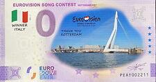 BILLET 0  EURO EUROVISION SONG CONTEST 1 COULEUR  2021  NUMERO DIVERS