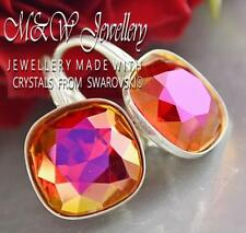 925 Silver Earrings Crystals From Swarovski® FANCY STONE Light Siam Astral Pink