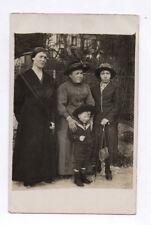 CARTE PHOTO ANCIENNE Costume Marin Groupe 3 femmes enfant Mode 1910 Robe Chapeau