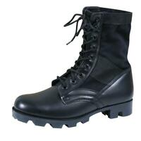 """Rothco 5081 Black Leather Military G.I. Style 8"""" Jungle Boots, Mens Sizes 8-12"""