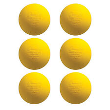 New Yellow Lacrosse Balls Nocsae / Sei / Nfhs / Ncaa Certified: 6 Pack