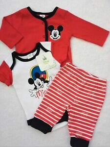 Disney Mickey Mouse Baby Boys Gift Set Outfit Age Newborn