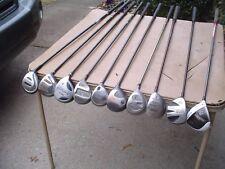 Bulk Lot 10 Older 3-Wood Golf Clubs 8- RH, 2- LH TaylorMade, Powerbilt, Nicklaus