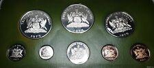 Trinidad and Tobago 8 Coin Set Franklin Mint 1975 Proof Box; Coa