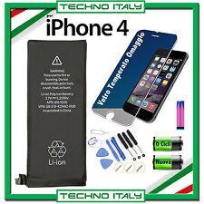 BATTERIA PER APPLE iPhone 4 1420 mAh CAPACITA' ORIGINALE 0 CICLI + KIT + GLASS