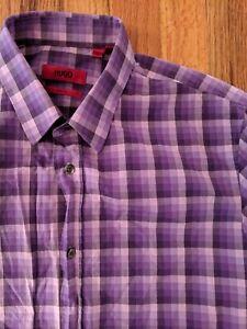 Hugo Boss Red Label Slim Fit Purple Shirt Size S