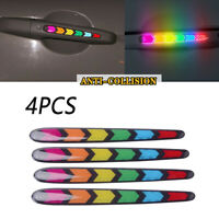 4x Rainbow Color Car Door Handle Protector Film Scratch Guard Cover Sticker Hot