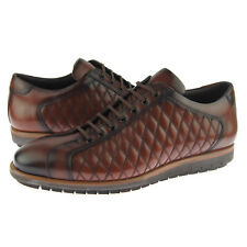 Corrente 4005 Quilted Dress/Casual Leather Shoes, Men's Fashion Sneakers, Brown