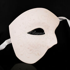 Phantom of the Opera - White Blank Venetian Masquerade Mask with Glitters
