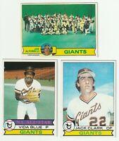 1979 Topps San Francisco Giants Team Set - (27) Cards - Vida Blue Jack Clark