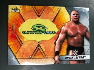 Brock Lesnar 2019 Topps WWE Summer Slam Patch Logo Relic #14/25  A23