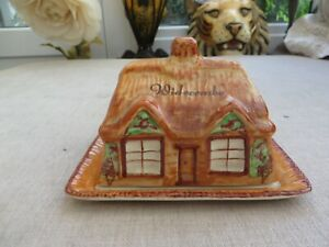 Art Deco pretty Westminister Widecombe country cottage butter dish china England