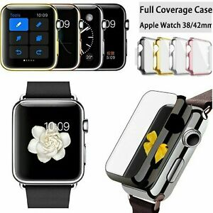 Apple Watch Series 1/2/3/4/5/6/SE Full Body Cover Snap On Case Screen Protector
