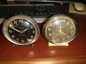 Vintage Westclox Baby Ben Small Alarm Clocks, lot of 2.  Not Running