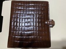 Rare Filofax A5 Balmoral Planner Brown Italian Leather