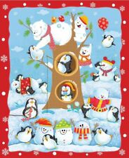 "1 Fabric Panel - A Penguin Parade 36"" x 44"" Fabric Panel - 4705-083"