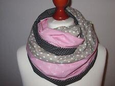 DIY Stoffpaket Loop-Schal ☆ Pusteblume rosa-grau ☆
