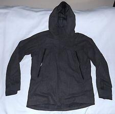 NAU -Wool blend Technical Performance Hood Jacket-Size Large-Charcoal-Very Nice.