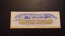 VINTAGE SKI COUNTRY BOURBON WHISKEY LIQUOR DECANTER LABEL FREE SHIPPING