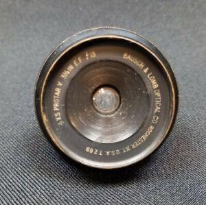 Bausch & Lomb Protar V 5 4x5 3.5inch f18 Lens Brass Antique Camera Photographic