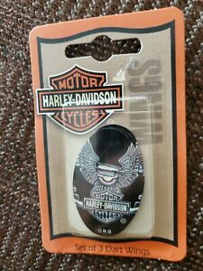 Harley-Davidson Motorcycle Dart Flights Oval Shape NEW