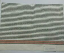"""NEW Threshold Striped Cream Gray Coral Fabric Placemat 14""""x19"""""""