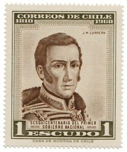 Chile 1960 #640 Jose Miguel Carrera MNH