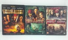 New ListingPirates of the Caribbean Movies 1, 2, 3 Dvd Lot Collection 4 Dvds Very Good