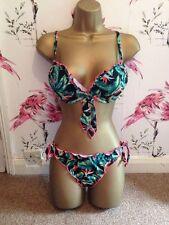 Ocean Club 32b 10 super push up imbottito Bikini Floreale Verde Rosa Blu Giallo