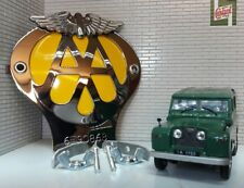 Land Rover Serie 1 80 86 107 Panel Frontal Aa Metal Coche Logo para Parrilla &