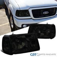 01-11 Ford Ranger Pickup Truck Smoke Lens Crystal Headlights+Corner Signal Lamps