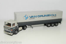 TEKNO SCANIA 141 TRUCK WITH TRAILER VAN OPIJNEN NEAR MINT CONDITION