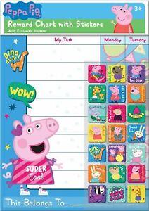 Peppa Pig Reward Chart With 56 Everyday Reusable Reward Stickers