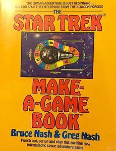 The Star Trek Make-A-Game Book By Bruce & Greg Nash 1979
