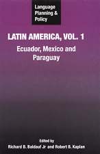 Language Planning & Policy Latin America Vol. 1 Ecuador Mexico And Paraguay