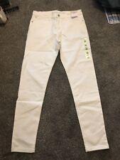 M&S Soft White Mid Rise  Super  Skinny Jeans Size 12 Reg BNWT Free Sameday P&p