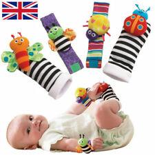 Baby Rattle Set Sensory Toys Foot-finder Socks Wrist Rattles Bracelet UK FURZON