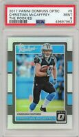 2017 Panini Donruss Optic Rookies Refractor #5 Christian McCAFFREY PSA Mint 9