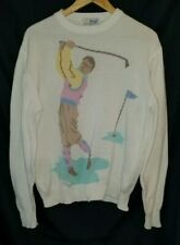 Vintage Pringle of Scotland Novelty Golf Pullover Sweater Size Large