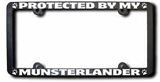 Protected By My Munsterlander License Frame