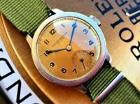 RECORD WATCH Longines Geneve MILITARE 215094 cal 22 RARE OLD Vintage OVERSIZE