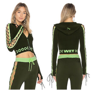 Fenty Puma Laced Sleeve Sweater Zip Up Hoodie Womens Size M