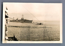 Philippines, Manille, L'Augusta et le China Clipper  Vintage silver print.
