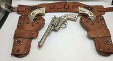 1950's Gunsmoke Cap Gun & Holster Set Gunsmoke Gun & 2 Marshal Guns