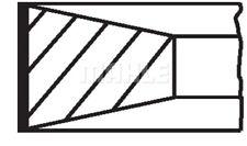 Jeu de segments de pistons MAHLE ORIGINAL (039 RS 00115 0N0)