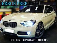 BMW 1 SERIES F20 F21 Xenon Bright White CREE LED Daytime Running Light DRL Bulbs
