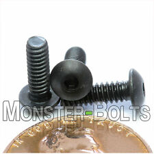 "#4-40 x 3/8"" - Qty 50 - BUTTON HEAD Socket Cap Screws  Alloy Steel Black Oxide"