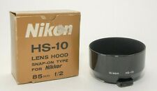NIKON HS-10 METAL LENS HOOD for 85mm f2 & 105mm f2.5! NEW OLD STOCK CONDITION!