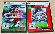 2 PC SPIELE SET - PRO EVOLUTION SOCCER 2011 & 2012 - PES - FUSSBALL FOOTBALL
